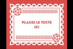 Confettis de Cinco de Mayo Étiquettes rondes gaufrées - gabarit prédéfini. <br/>Utilisez notre logiciel Avery Design & Print Online pour personnaliser facilement la conception.