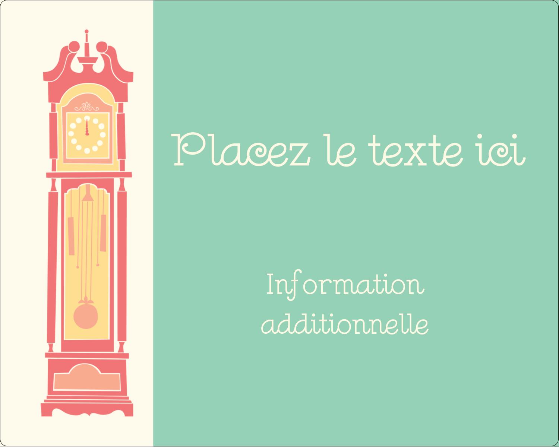 """2"""" Diameter Étiquettes rondes gaufrées - Horloges"""