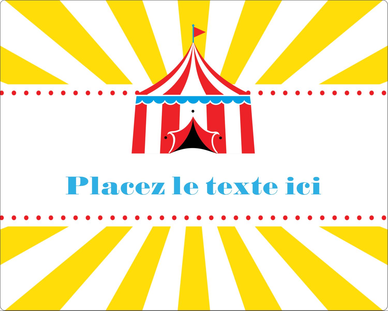 """2"""" Diameter Étiquettes rondes gaufrées - Chapiteau de cirque"""