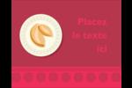 Nouvel An chinois avec biscuit Étiquettes rondes gaufrées - gabarit prédéfini. <br/>Utilisez notre logiciel Avery Design & Print Online pour personnaliser facilement la conception.