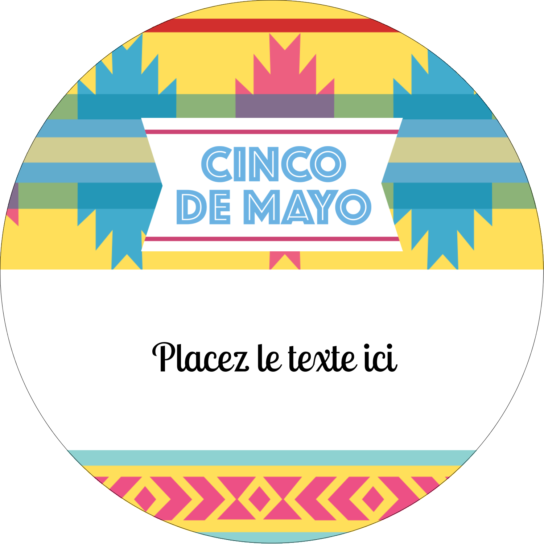 "3-7/16"" x 15/16"" Étiquettes de classement - Serape de Cinco de Mayo"