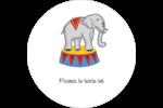 Anniversaire au cirque Étiquettes arrondies - gabarit prédéfini. <br/>Utilisez notre logiciel Avery Design & Print Online pour personnaliser facilement la conception.