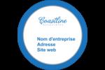 Littoral bleu Étiquettes arrondies - gabarit prédéfini. <br/>Utilisez notre logiciel Avery Design & Print Online pour personnaliser facilement la conception.