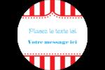 Chapiteau de cirque Étiquettes arrondies - gabarit prédéfini. <br/>Utilisez notre logiciel Avery Design & Print Online pour personnaliser facilement la conception.