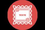 Confettis de Cinco de Mayo Étiquettes arrondies - gabarit prédéfini. <br/>Utilisez notre logiciel Avery Design & Print Online pour personnaliser facilement la conception.