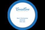 Littoral bleu Étiquettes rondes - gabarit prédéfini. <br/>Utilisez notre logiciel Avery Design & Print Online pour personnaliser facilement la conception.