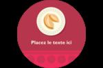 Nouvel An chinois avec biscuit Étiquettes arrondies - gabarit prédéfini. <br/>Utilisez notre logiciel Avery Design & Print Online pour personnaliser facilement la conception.