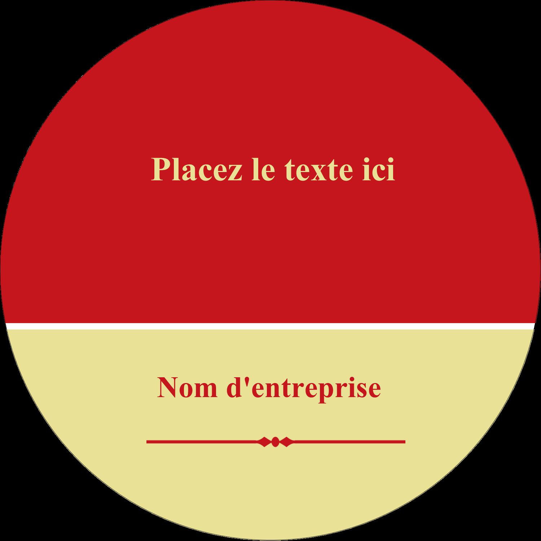 """2½"""" Diameter Étiquettes rondes - Laine classique"""
