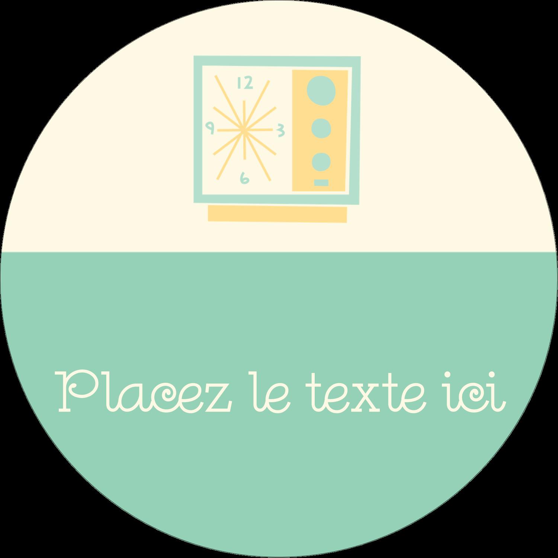 """2½"""" Diameter Étiquettes rondes - Horloges"""