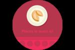Nouvel An chinois avec biscuit Étiquettes rondes - gabarit prédéfini. <br/>Utilisez notre logiciel Avery Design & Print Online pour personnaliser facilement la conception.