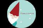 Lutin de Noël Étiquettes rondes - gabarit prédéfini. <br/>Utilisez notre logiciel Avery Design & Print Online pour personnaliser facilement la conception.