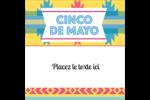 Serape de Cinco de Mayo Étiquettes enveloppantes - gabarit prédéfini. <br/>Utilisez notre logiciel Avery Design & Print Online pour personnaliser facilement la conception.