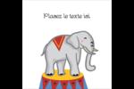 Anniversaire au cirque Étiquettes rondes - gabarit prédéfini. <br/>Utilisez notre logiciel Avery Design & Print Online pour personnaliser facilement la conception.