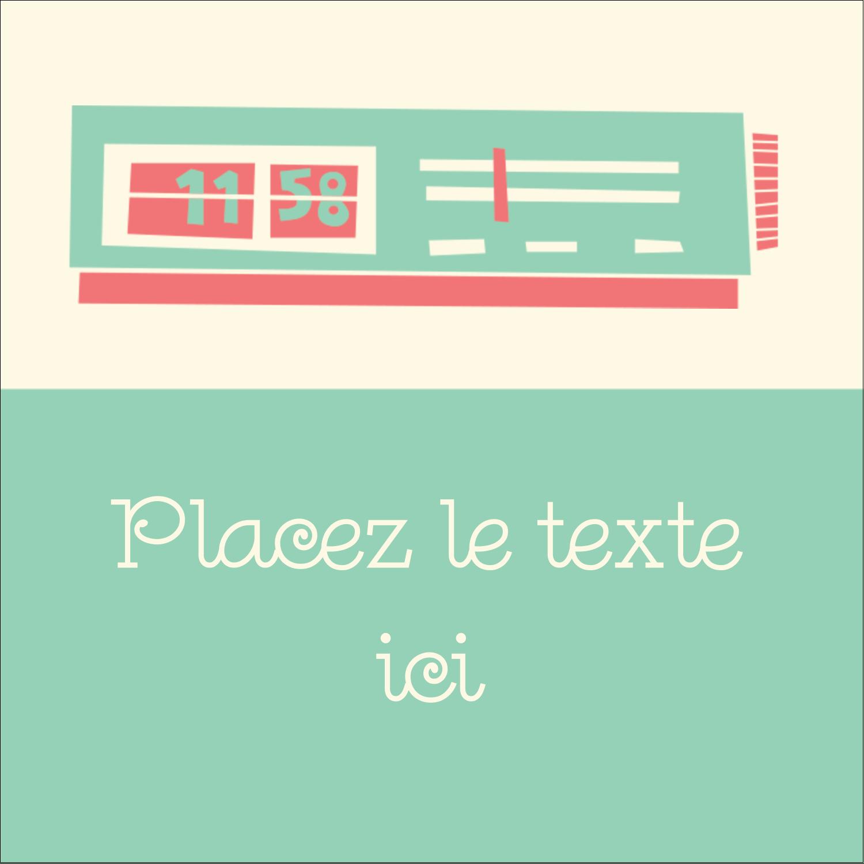 """1½"""" x 1½"""" Étiquettes carrées - Horloges"""