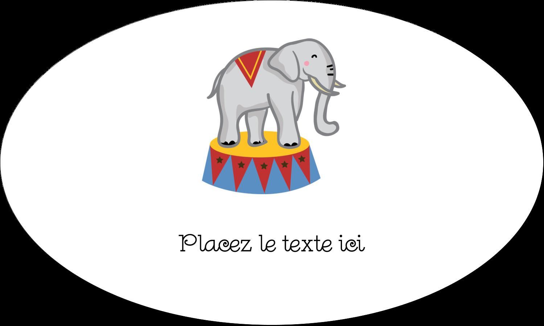 """1½"""" x 1½"""" Étiquettes carrées - Anniversaire au cirque"""