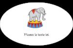 Anniversaire au cirque Étiquettes carrées - gabarit prédéfini. <br/>Utilisez notre logiciel Avery Design & Print Online pour personnaliser facilement la conception.
