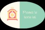 Horloges Étiquettes carrées - gabarit prédéfini. <br/>Utilisez notre logiciel Avery Design & Print Online pour personnaliser facilement la conception.