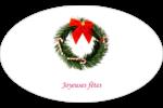 Couronne de Noël Étiquettes ovales - gabarit prédéfini. <br/>Utilisez notre logiciel Avery Design & Print Online pour personnaliser facilement la conception.