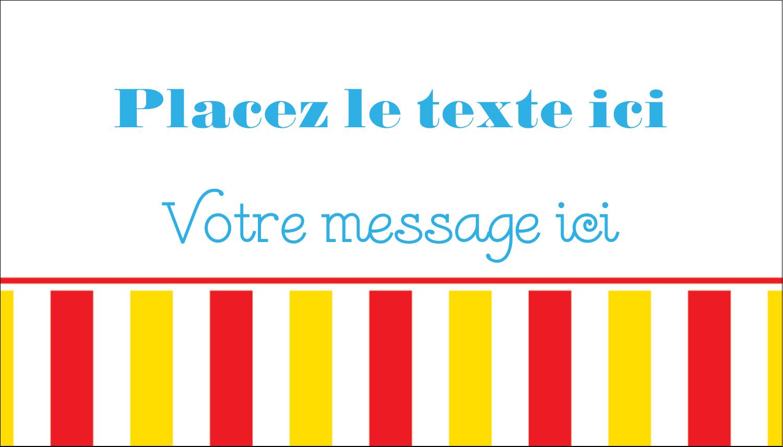 """2"""" x 3½"""" Carte d'affaire - Chapiteau de cirque"""