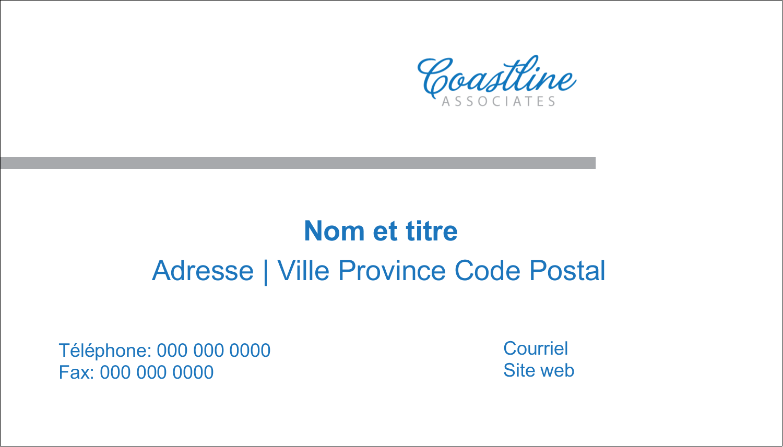 """3"""" x 5"""" Cartes Pour Le Bureau - Littoral bleu"""