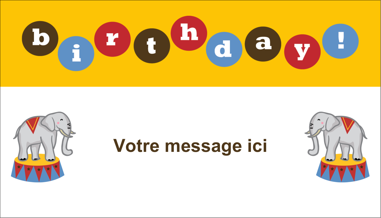 """3"""" x 5"""" Cartes Pour Le Bureau - Anniversaire au cirque"""