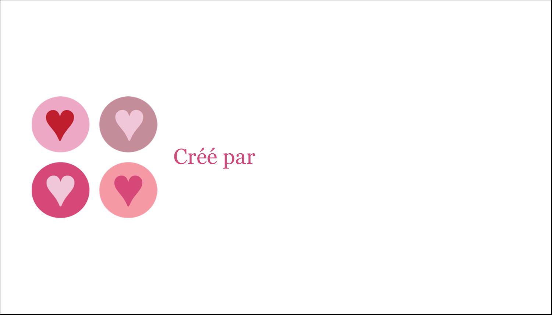 """3"""" x 5"""" Cartes Pour Le Bureau - Cœurs encerclés"""