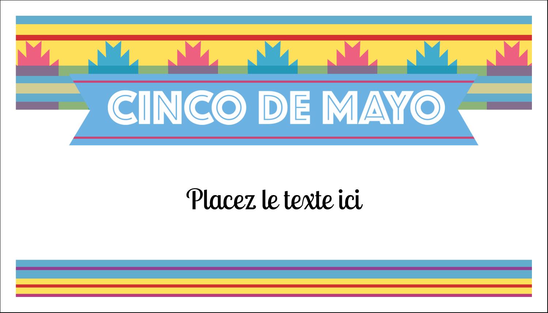 "3"" x 5"" Cartes Pour Le Bureau - Serape de Cinco de Mayo"