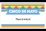 Serape de Cinco de Mayo Cartes Pour Le Bureau - gabarit prédéfini. <br/>Utilisez notre logiciel Avery Design & Print Online pour personnaliser facilement la conception.