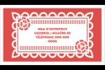 Confettis de Cinco de Mayo Cartes Pour Le Bureau - gabarit prédéfini. <br/>Utilisez notre logiciel Avery Design & Print Online pour personnaliser facilement la conception.