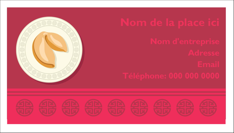 """3"""" x 5"""" Cartes Pour Le Bureau - Nouvel An chinois avec biscuit"""