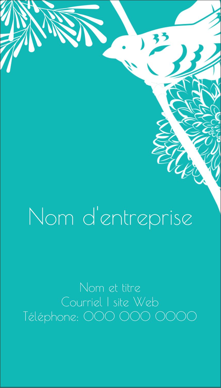 """2"""" x 3½"""" Carte d'affaire - Signes du printemps"""