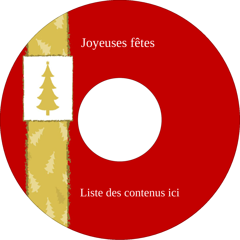 """⅔"""" x 3-7/16"""" Étiquettes de classement - Arbre de Noël sur fond rouge"""