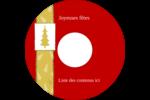 Arbre de Noël sur fond rouge Étiquettes de classement - gabarit prédéfini. <br/>Utilisez notre logiciel Avery Design & Print Online pour personnaliser facilement la conception.