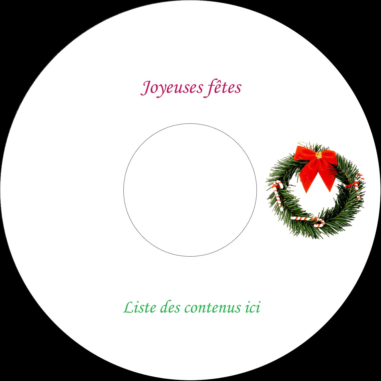 """⅔"""" x 3-7/16"""" Étiquettes de classement - Couronne de Noël"""