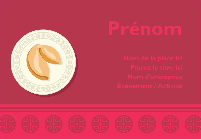 """1¼"""" Étiquettes à codage couleur - Nouvel An chinois avec biscuit"""