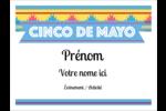 Serape de Cinco de Mayo Badges - gabarit prédéfini. <br/>Utilisez notre logiciel Avery Design & Print Online pour personnaliser facilement la conception.
