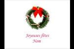 Couronne de Noël Étiquettes badges autocollants - gabarit prédéfini. <br/>Utilisez notre logiciel Avery Design & Print Online pour personnaliser facilement la conception.