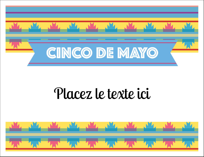 """8½"""" x 11"""" Cartes Et Articles D'Artisanat Imprimables - Serape de Cinco de Mayo"""