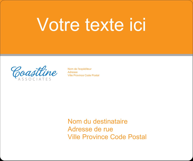"""½"""" x 1¾"""" Étiquettes D'Adresse - Littoral orange"""