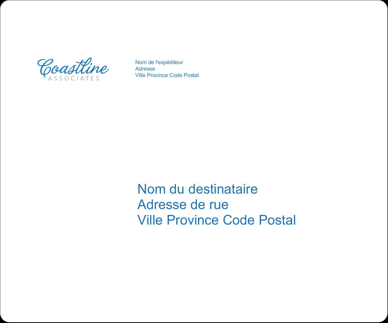 "½"" x 1¾"" Étiquettes D'Adresse - Littoral bleu"