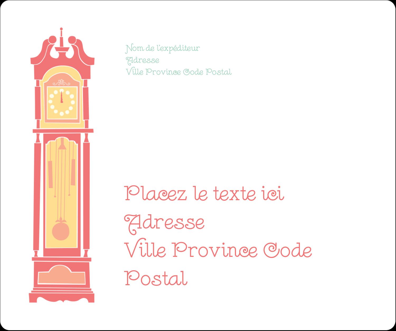 "½"" x 1¾"" Étiquettes D'Adresse - Horloges"