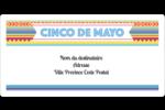 Serape de Cinco de Mayo Étiquettes de classement écologiques - gabarit prédéfini. <br/>Utilisez notre logiciel Avery Design & Print Online pour personnaliser facilement la conception.