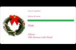 Couronne de Noël Étiquettes de classement écologiques - gabarit prédéfini. <br/>Utilisez notre logiciel Avery Design & Print Online pour personnaliser facilement la conception.