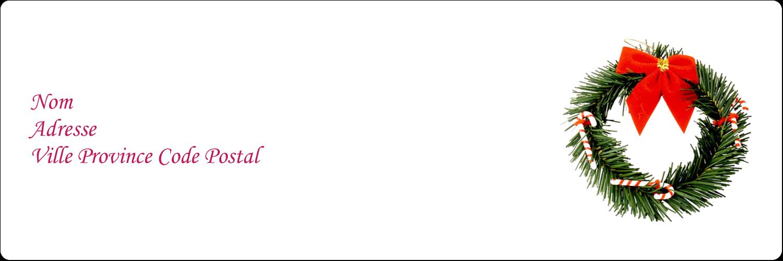 """8½"""" x 11"""" Intercalaires / Onglets - Couronne de Noël"""