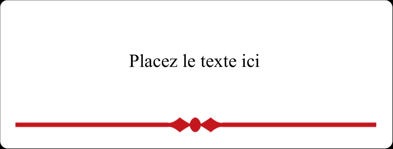 """2⅝"""" x 1"""" Étiquettes Voyantes - Laine classique"""