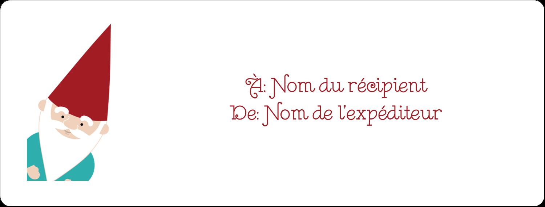 """1"""" x 4"""" Étiquettes d'adresse - Lutin de Noël"""