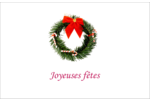 Couronne de Noël Cartes Et Articles D'Artisanat Imprimables - gabarit prédéfini. <br/>Utilisez notre logiciel Avery Design & Print Online pour personnaliser facilement la conception.