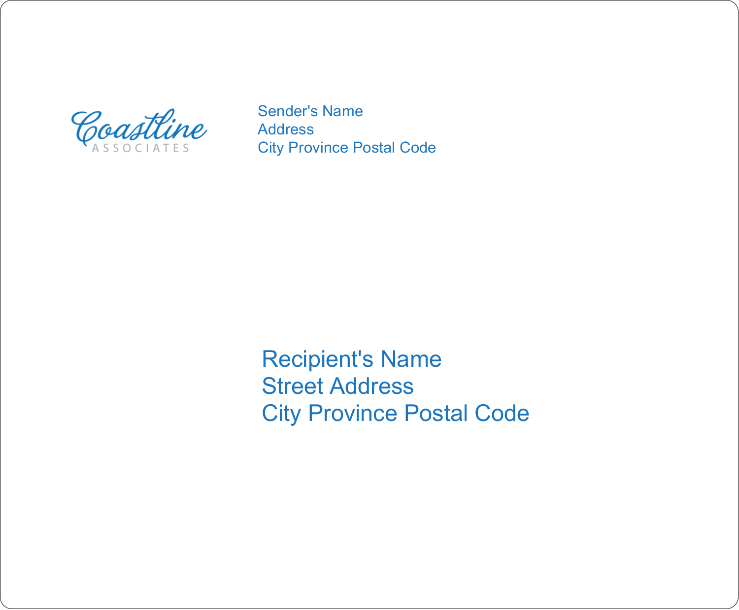 "4"" x 3⅓"" Shipping Label - Coastline Blue"