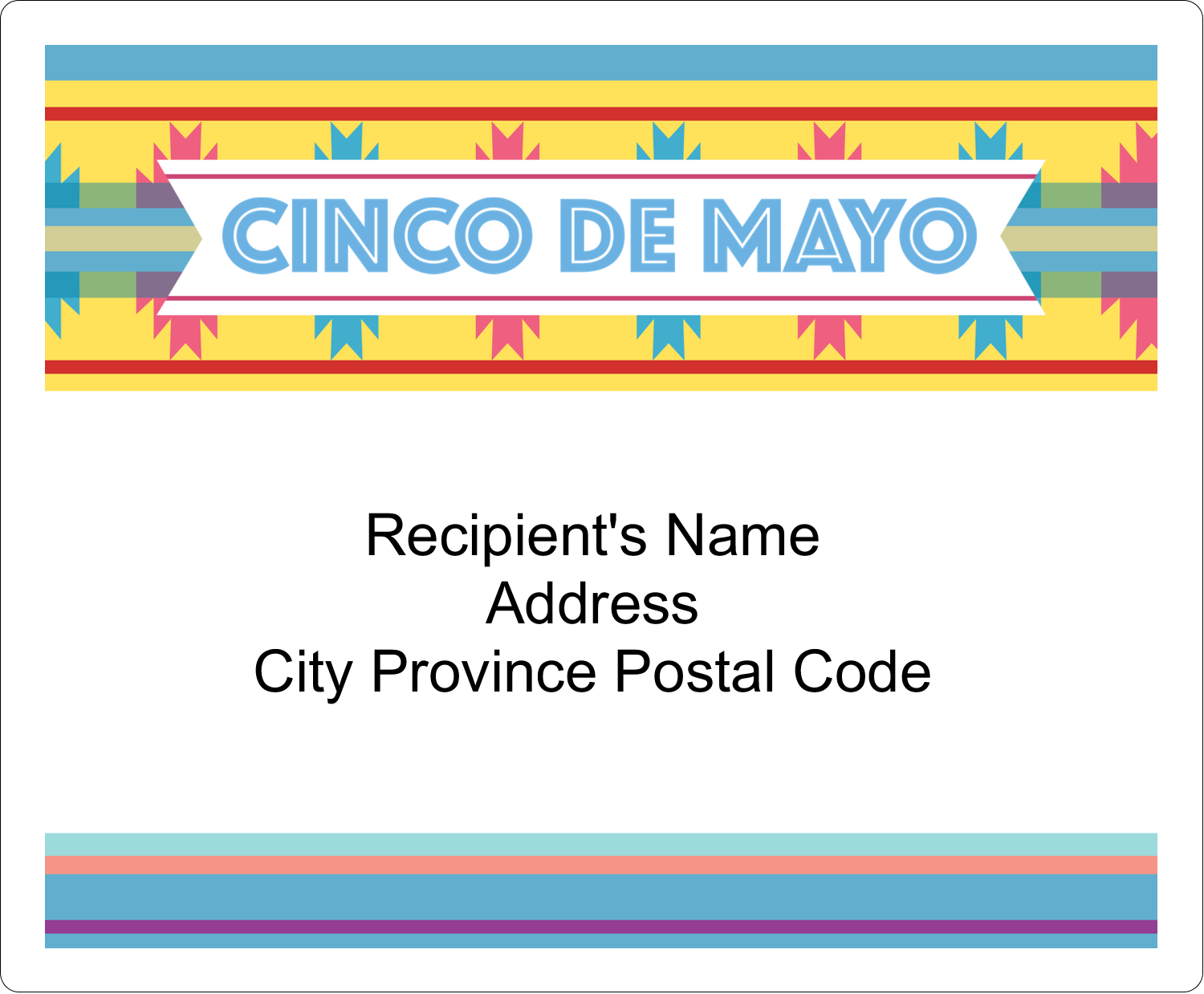 "4"" x 3⅓"" Shipping Label - Cinco de Mayo Serape"