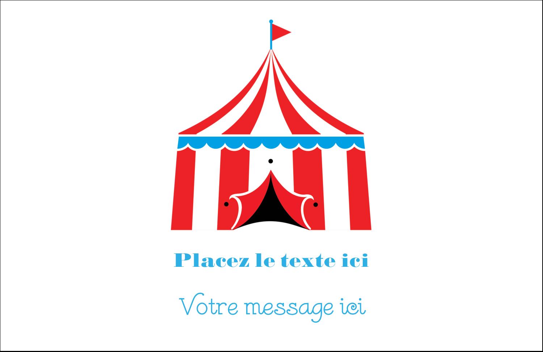 """8½"""" x 11"""" Cartes Et Articles D'Artisanat Imprimables - Chapiteau de cirque"""